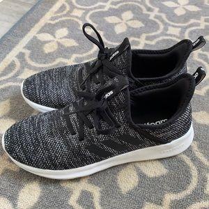 Brand new adidas cloud foam super black and white runners